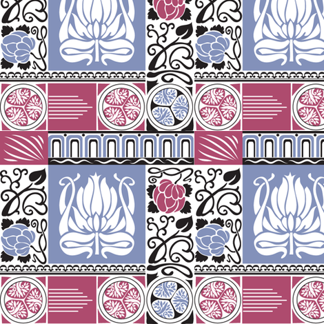 Annelli's Art Deco fabric by dianne_annelli on Spoonflower - custom fabric
