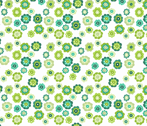 silly green flowers fabric by lfntextiles on Spoonflower - custom fabric