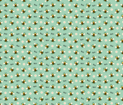 Bees fabric by cassiopee on Spoonflower - custom fabric