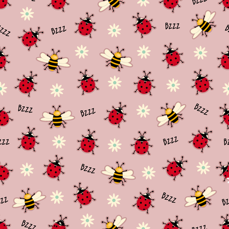 Ladybugs fabric by cassiopee on Spoonflower - custom fabric