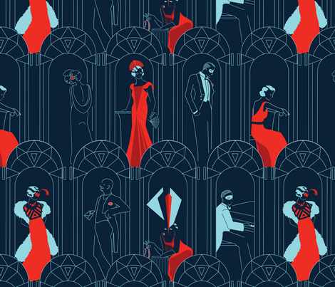 Deco Masquerade fabric by vdyej on Spoonflower - custom fabric