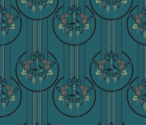 art deco fabric by onegreyelephant on Spoonflower - custom fabric