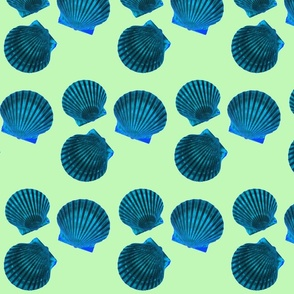 Scallop Shells Blue