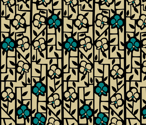 Art Deco Orchids fabric by acbeilke on Spoonflower - custom fabric