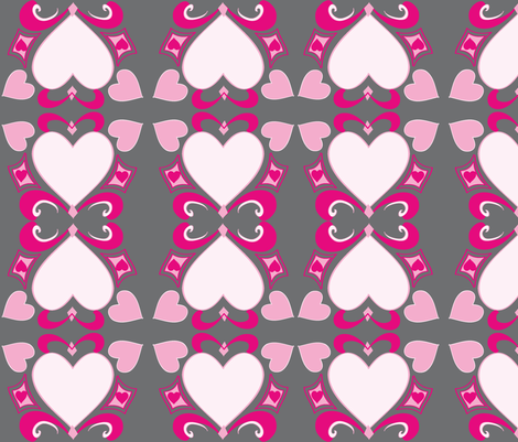 Heart Deco  (Art Deco Valentine) fabric by palmrowprints on Spoonflower - custom fabric