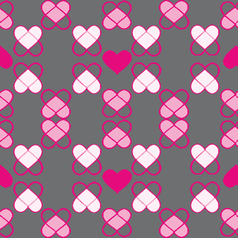 Argyle Hearts  fabric by palmrowprints on Spoonflower - custom fabric