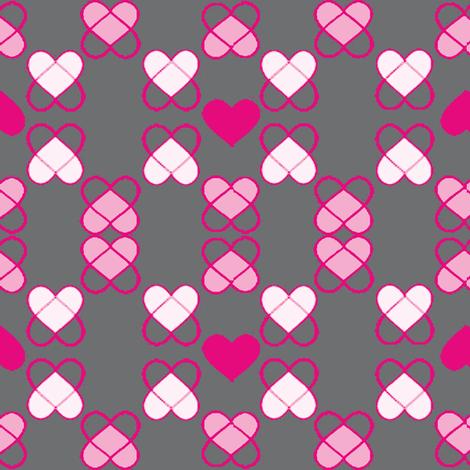 Argyle Hearts  fabric by fabricfarmer_by_jill_bull on Spoonflower - custom fabric