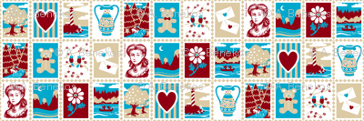 Love Letter Postage Stamps