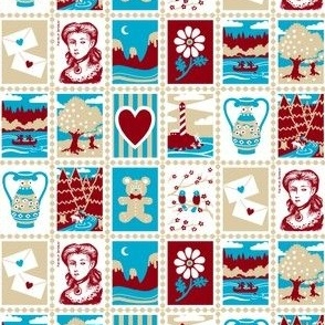 Love Letter Postage Stamps