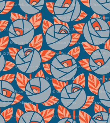 Rose Garden, Gray-Blue