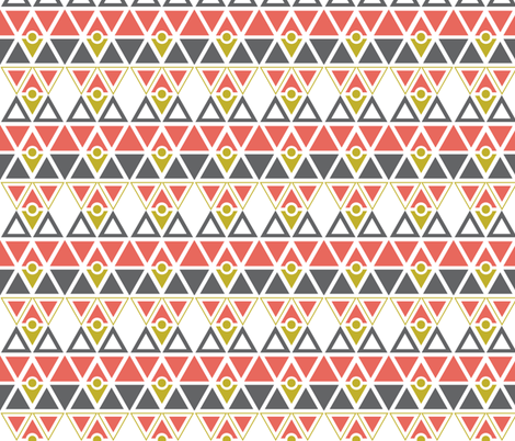 triangles fabric by mooberri on Spoonflower - custom fabric