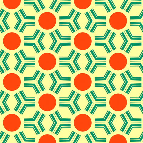 Retro Red Sun fabric by stoflab on Spoonflower - custom fabric