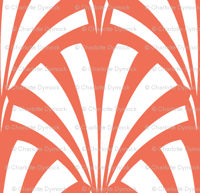 Art Deco Palm Leaf - Sunrise