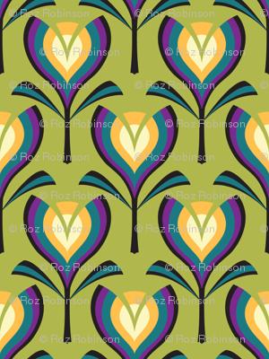 Deco tulips - green