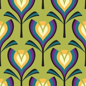 Deco tulips - green