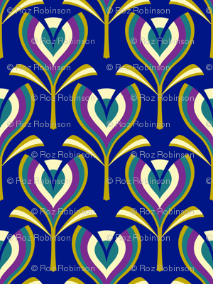 Deco tulips - blue