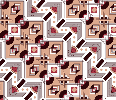 art deco zig zag fabric by babysisterrae on Spoonflower - custom fabric