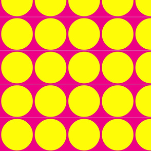 Big Dots in Hot Pink & Lemon