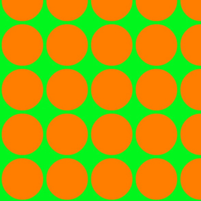 Big Dots in Lime and Orange