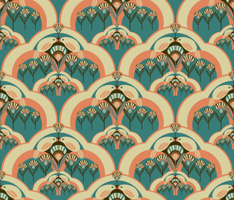 Art deco 4 color designs spoonflower design challenge - Deco design fabriek ...