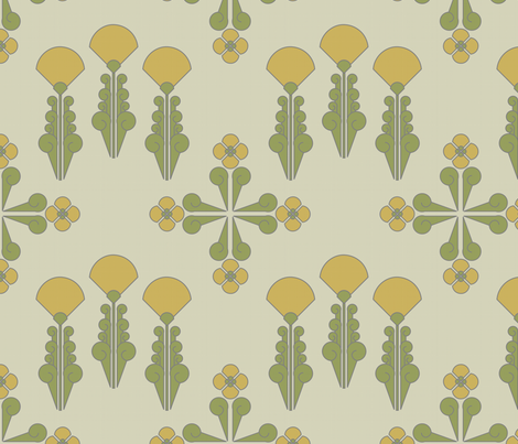 art_deco_flowers fabric by seedpod on Spoonflower - custom fabric