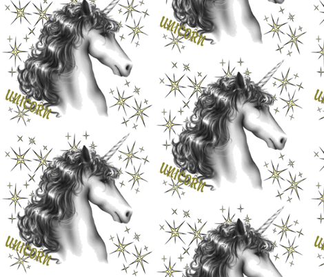 UNICORN MAGIC fabric by bluevelvet on Spoonflower - custom fabric