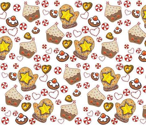 CHRISTMAS BAKE SHOP fabric by bluevelvet on Spoonflower - custom fabric