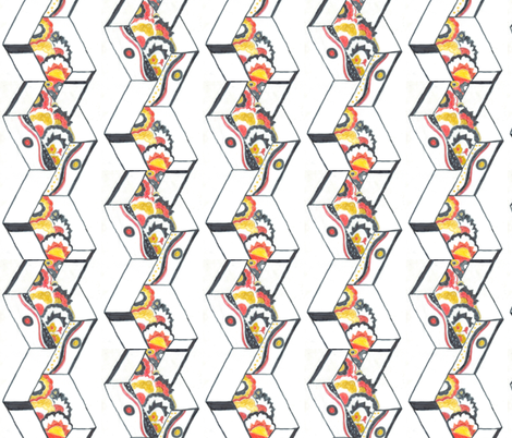 deco1a fabric by pomegranate_workshop on Spoonflower - custom fabric