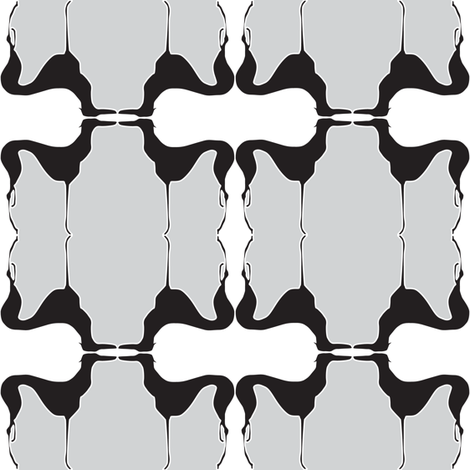 Art Deco Greyhound fabric by mag-o on Spoonflower - custom fabric