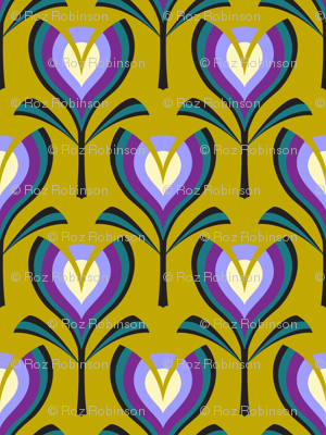 Deco tulips - mustard and crocus