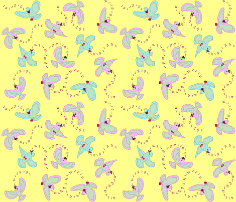 Spring_birds fabric by adranre on Spoonflower - custom fabric