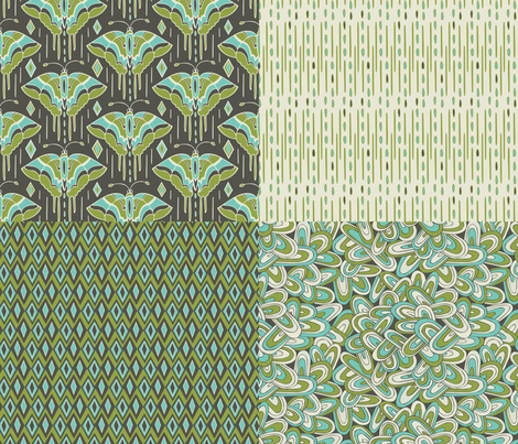 Devine Deco 1 Yard Coordinate Collection fabric by heatherdutton on Spoonflower - custom fabric