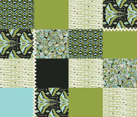 Devine Deco Cheater Quilt fabric by heatherdutton on Spoonflower - custom fabric