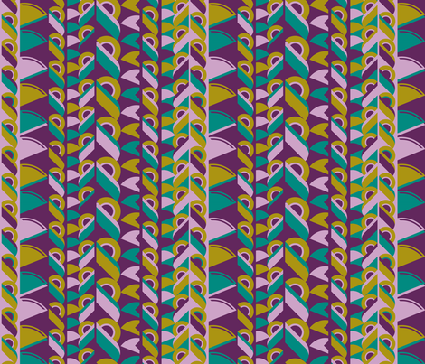 French Art Deco fabric by cassiopee on Spoonflower - custom fabric