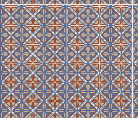 DecoFlowerTile fabric by kmaggiolino on Spoonflower - custom fabric