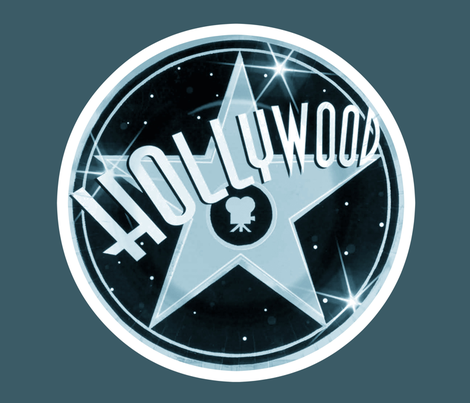 HELLO HOLLYWOOD fabric by bluevelvet on Spoonflower - custom fabric