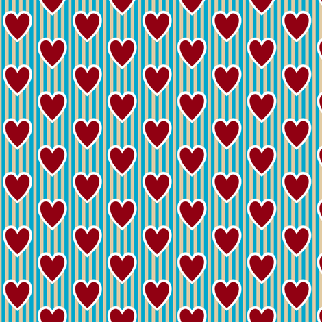 Love Letter Hearts fabric by siya on Spoonflower - custom fabric