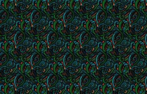 Tiki Totem  fabric by heatherpeterman on Spoonflower - custom fabric