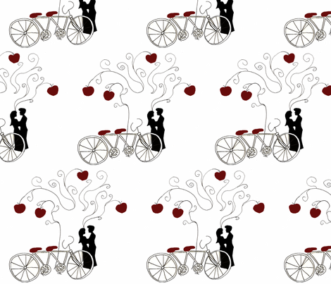 Apple Of My Eye Bicycle print fabric by scoutmom131 on Spoonflower - custom fabric
