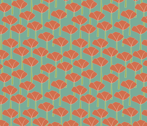 poppies_art_deco fabric by jeannemcgee on Spoonflower - custom fabric