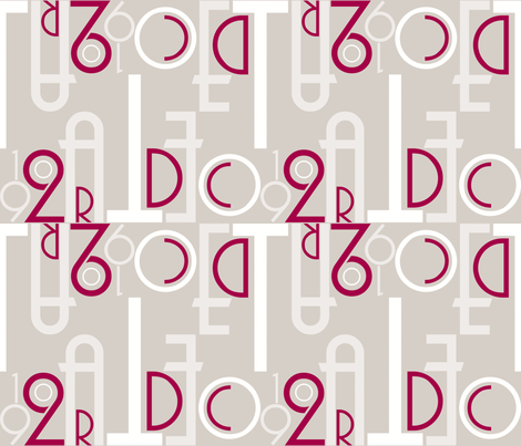 Art Deco Font-ilicious (colour) fabric by plumbilly on Spoonflower - custom fabric
