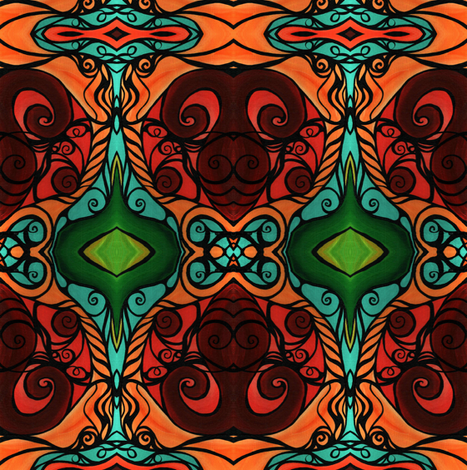 Emerald Taurus  fabric by heatherpeterman on Spoonflower - custom fabric
