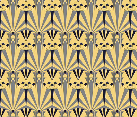 Golden Age of Art Deco  fabric by vo_aka_virginiao on Spoonflower - custom fabric