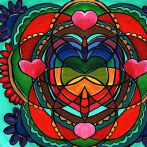 Healing Heart Mandala fractal