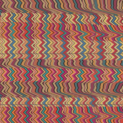 Petris Zag (Warm) fabric by david_kent_collections on Spoonflower - custom fabric