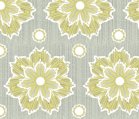 ROXY STAR in yarrow & stone fabric by trcreative on Spoonflower - custom fabric