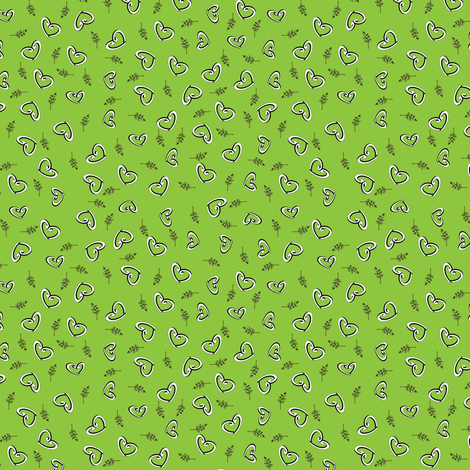 Peace Hearts  -  Lime fabric by inscribed_here on Spoonflower - custom fabric