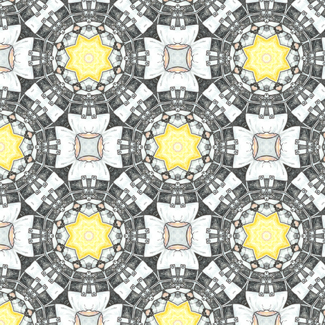 Waiteri's Spade Wheel fabric by siya on Spoonflower - custom fabric