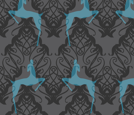 Deco Deer fabric by meredithjean on Spoonflower - custom fabric