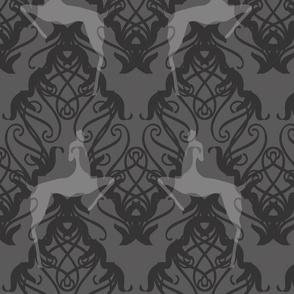 Deco Deer silver